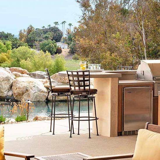 Rustic Contemporary Outdoor Living Area Designed by HartmanBaldwin
