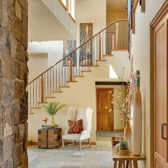 Rustic Contemporary Stairwell Entry Design by HartmanBaldwin