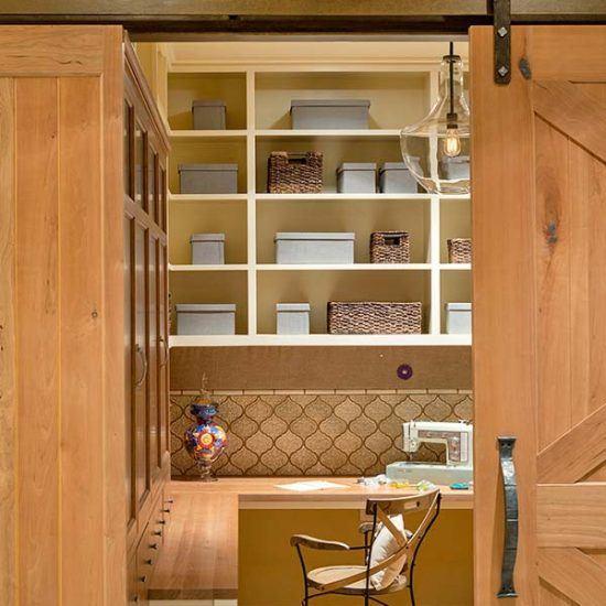 Contemporary Rustic Sewing Craft Room Designed by HartmanBaldwin