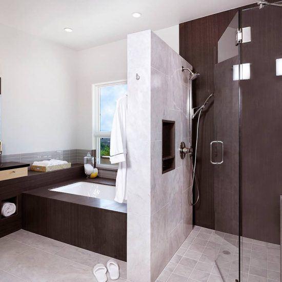 Ultra Modern New Custom Bathroom by HartmanBaldwin