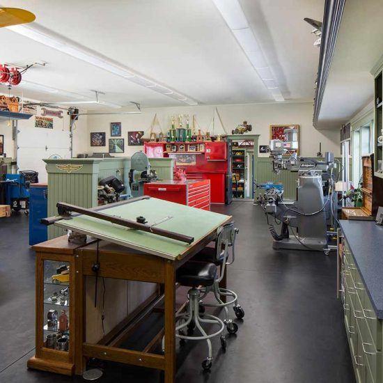 Car Collectors Home Workshop Designed by HartmanBaldwin
