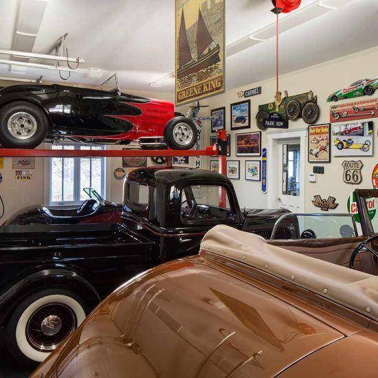 Classic Car Collectors Garage Designed by HartmanBaldwin