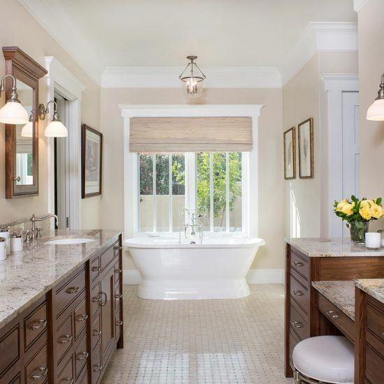 Hampton's Style Elegant Traditional Bathroom Designed by HartmanBaldwin