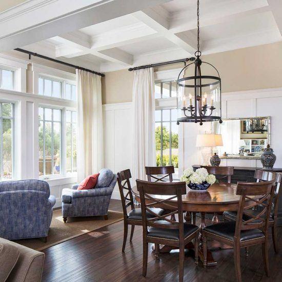 Hampton's Style Dining Room Designed by HartmanBaldwin
