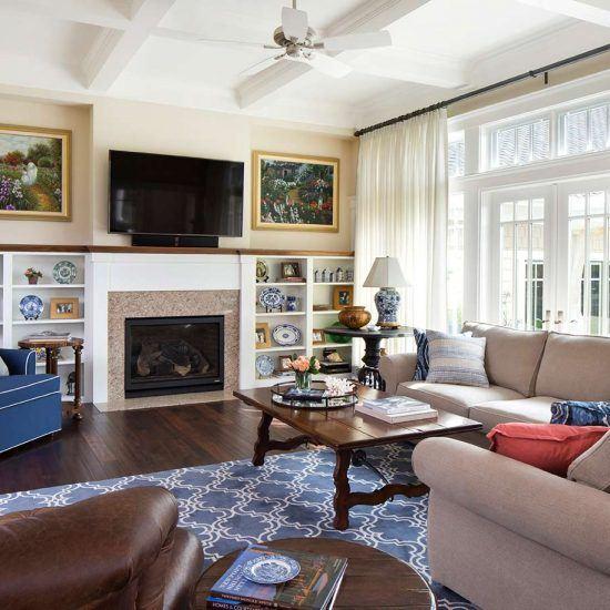Hampton's Style Living Room Designed by HartmanBaldwin