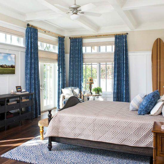 Hampton's Style Master Bedroom Designed by HartmanBaldwin