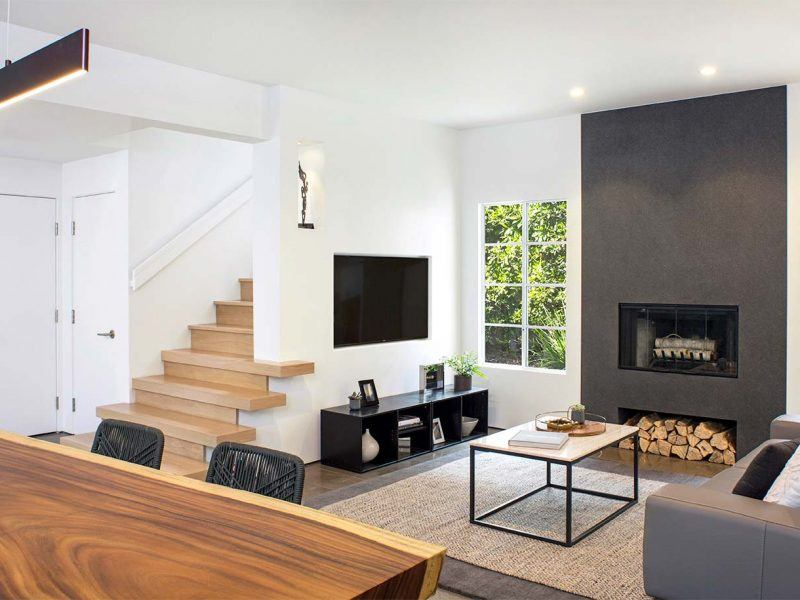 Modern Minimalist Living Room Design by HartmanBaldwin