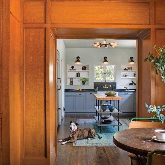 Mediterranean Style Breakfast Nook and Pantry Designed by HartmanBaldwin