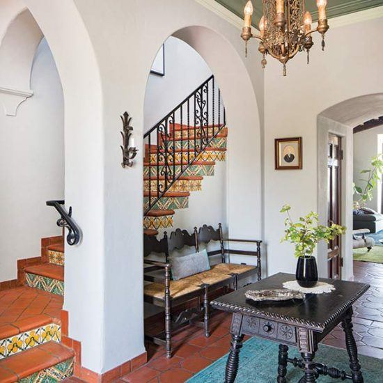 Custom Mediterranean Style Entryway Home Designed by HartmanBaldwin