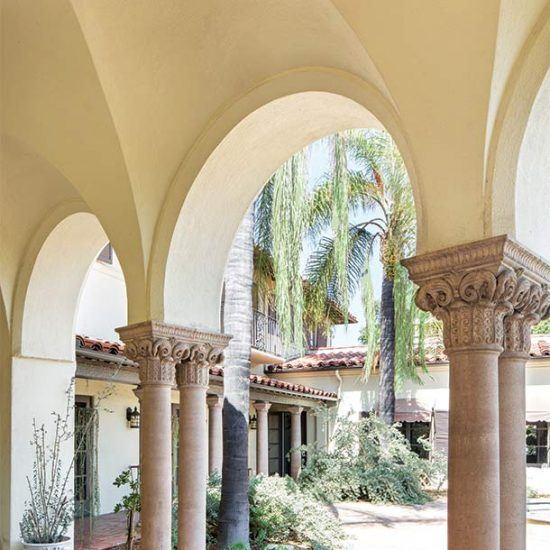 Mediterranean Style Loggia Designed by HartmanBaldwin