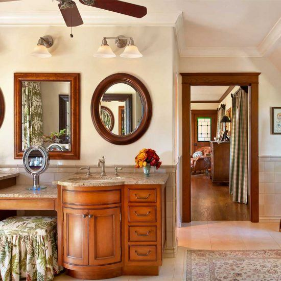 English Gardens Estate Traditional Master Bathroom Marble Topped Sinks by HartmanBaldwin