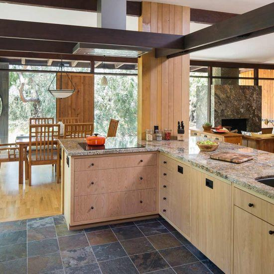 Mid-Century Modern Home with Post and Beam Architecture Kitchen Remodel by HartmanBaldwin