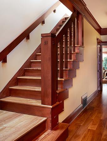 After MiraMonte Contemporary Craftsman Stairwell by HartmanBaldwin
