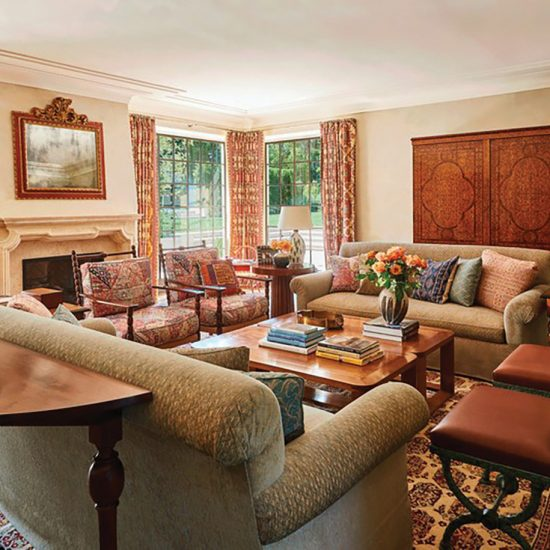 Italianate Villa Living Room Home Restoration by HartmanBaldwin Photo by Architectural Digest