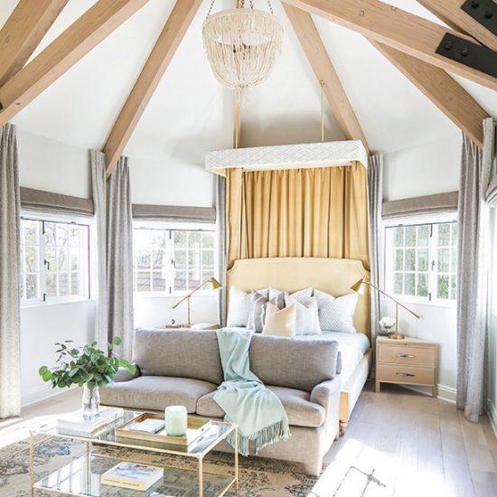 Hillside French Normandy Custom Bedroom Renovation Design Rebuild by HartmanBaldwin