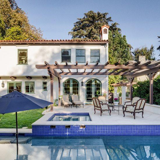 HartmanBaldwin Spanish Mediterranean Pool and Outdoor Living Renovation