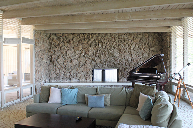 HartmanBaldwin Mid-Century Modern Living Room Fireplace Before