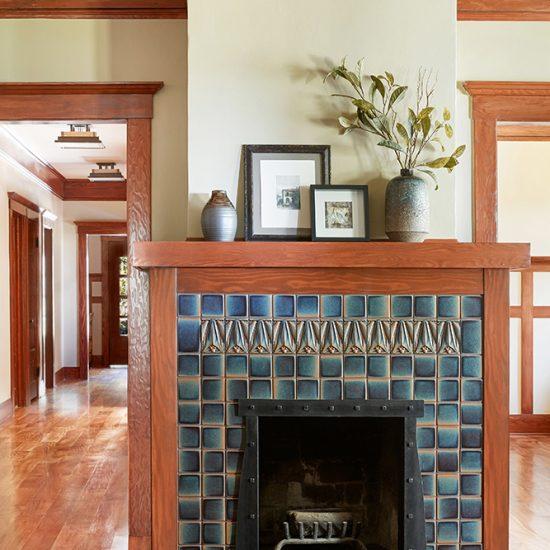 Craftsman Style Home Renovation of Fireplace by HartmanBaldwin