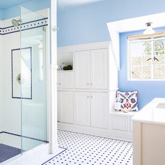 Old English Bathroom Remodel Design by HartmanBaldwin