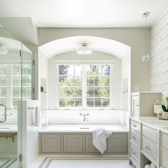 Old English Home Master Bathroom Renovation Design by HartmanBaldwin